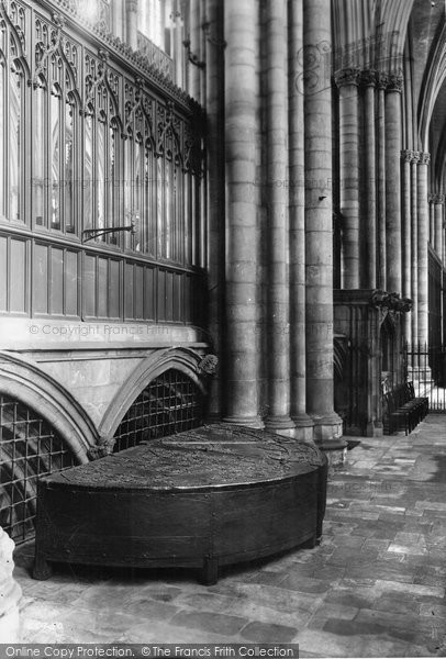 Photo of York, Minster, North Choir Aisle Cope Chest 1913