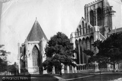 York, Minster, North Side, Chapter House c.1885
