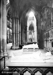 York, Minster, North Transept 1913