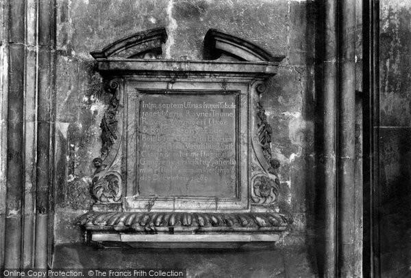 Photo of York, Minster, Paynes Monument 1909