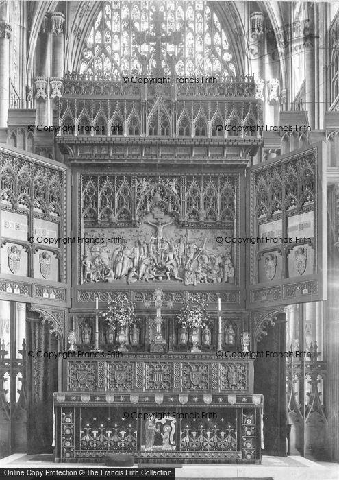 Photo of York, Minster, Reredos 1911