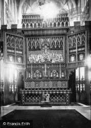 Minster, Reredos c.1885, York