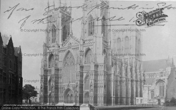 Photo of York, Minster, S.W c.1885