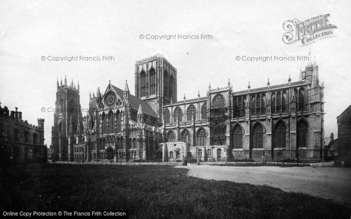 Photo of York, Minster, South Side c.1885