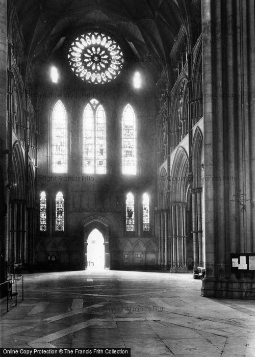 Photo of York, Minster, South Transept 1911