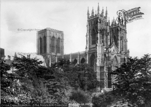Photo of York, Minster, South West 1908