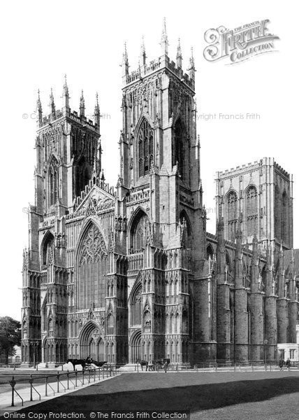 Photo of York, Minster, South West c.1880