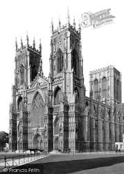 York, Minster, South West c.1880