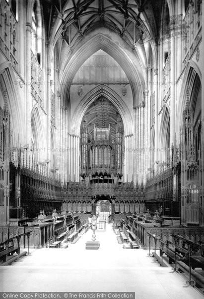 Photo of York, Minster, The Choir 1886