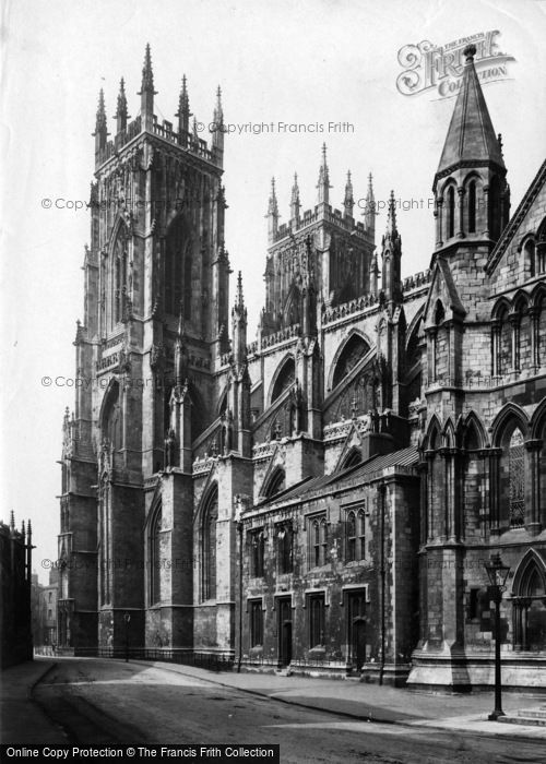 Photo of York, Minster, Towers 1907