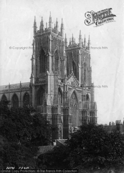 Photo of York, Minster, Towers From North West 1891