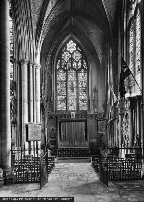 Photo of York, Minster, Wellington's Chapel 1925