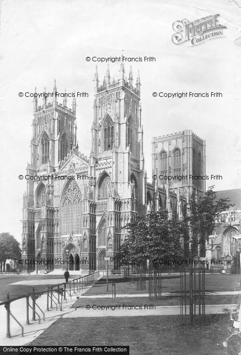 Photo of York, Minster, West Front 1897