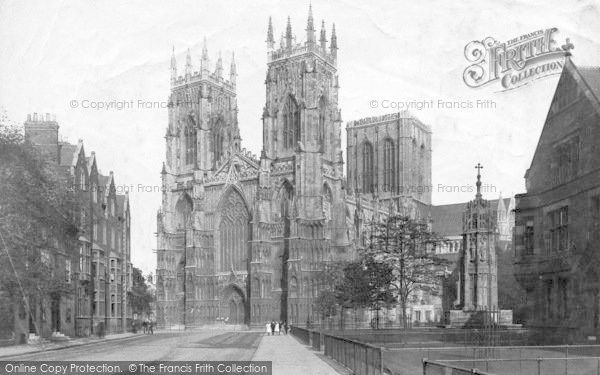 Photo of York, Minster, West Front 1907