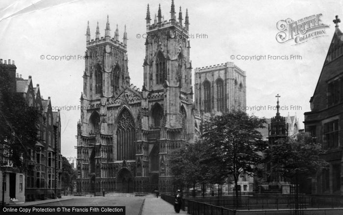 Photo of York, Minster, West Front 1913