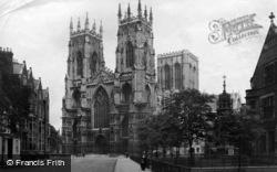 York, Minster, West Front 1913