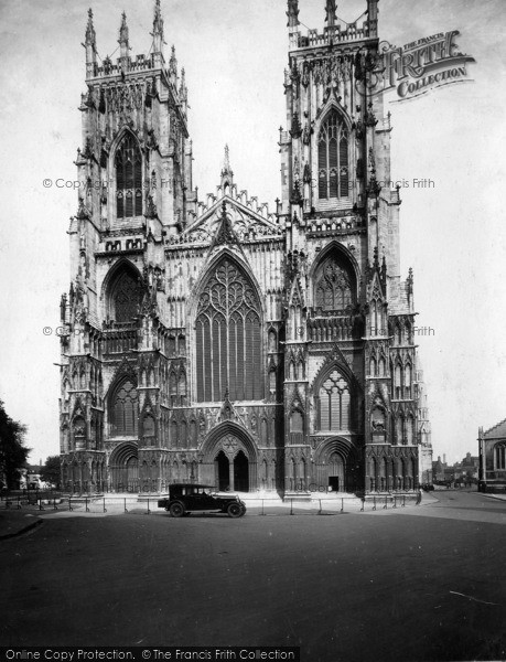 Photo of York, Minster, West Front 1925