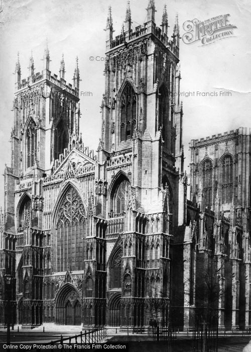 Photo of York, Minster, West Front c.1885