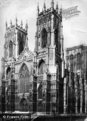 York, Minster, West Front c.1885