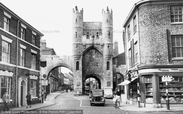Photo of York, Monk Bar c1955, ref. Y12044