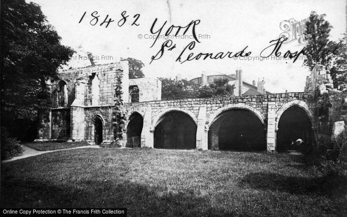 Photo of York, St Leonard's Hospital c.1885