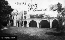 York, St Leonard's Hospital c.1885