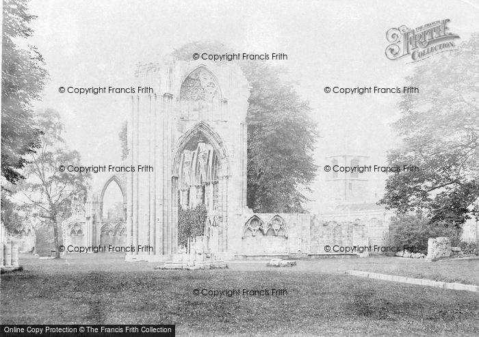 Photo of York, St Mary's Abbey And St Olave's Church c.1885