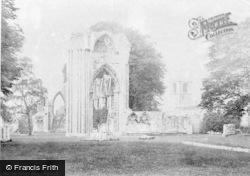 York, St Mary's Abbey And St Olave's Church c.1885