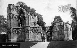 York, St Mary's Abbey c.1873