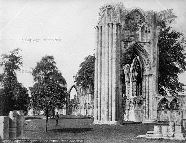 Photo of York, St Mary's Abbey c.1873