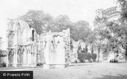 York, St Mary's Abbey c.1885