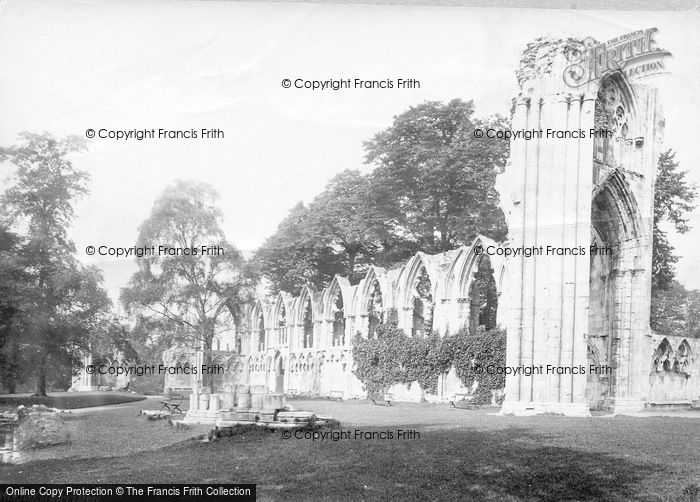 Photo of York, St Mary's Abbey c.1885