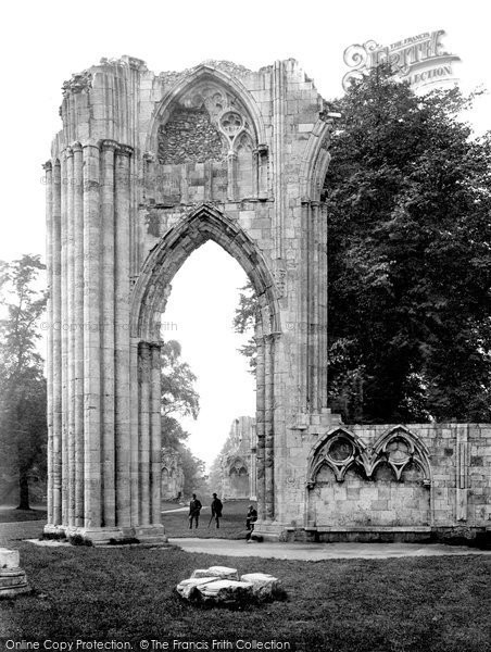 Photo of York, St Mary's Abbey, East End c.1880