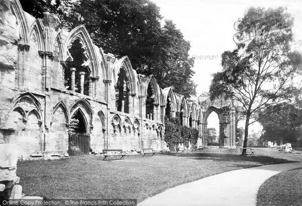 Photo of York, St Mary's Abbey, Interior East c.1885