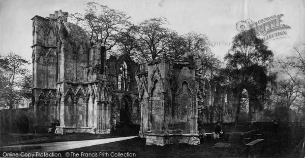 Photo of York, St Mary's Abbey, South West c.1870