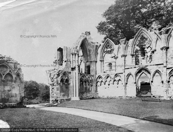 Photo of York, St Mary's Abbey, West End And Etty's Tomb c.1885