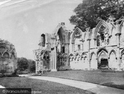 York, St Mary's Abbey, West End And Etty's Tomb c.1885