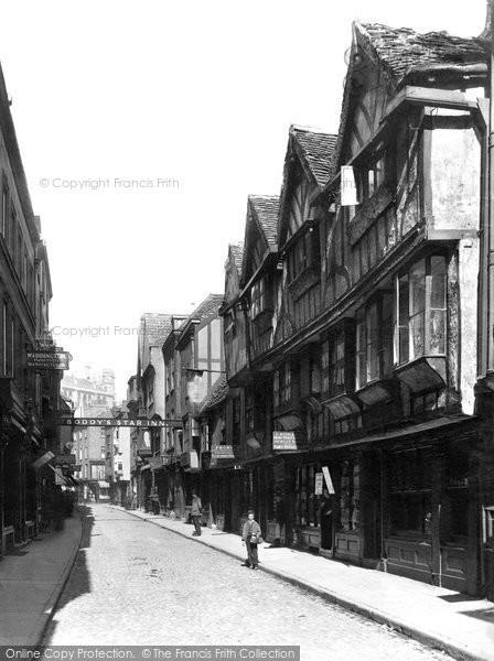 Photo of York, Stonegate c.1880