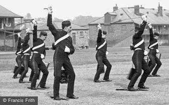 York, the Cavalry Barracks, Sword Practice 1886