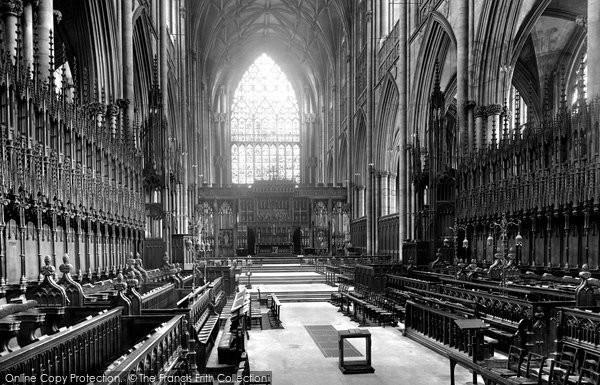 Photo of York, The Minster, Choir East 1921