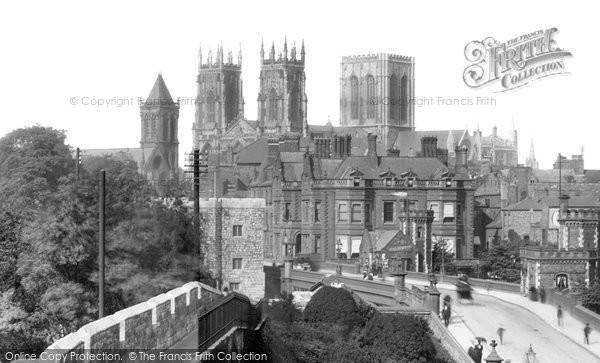Photo of York, The Minster From City Walls 1908