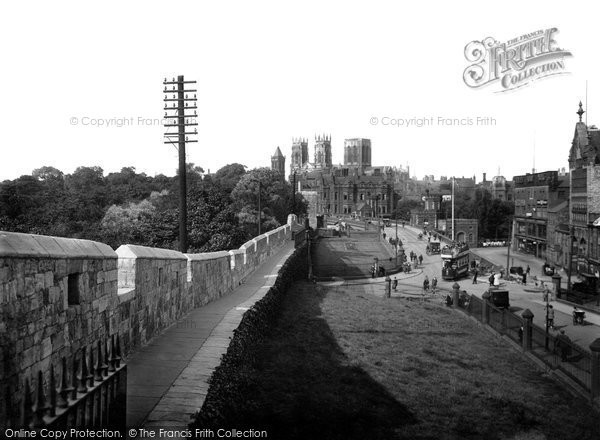 Photo of York, The Minster From The City Walls 1921