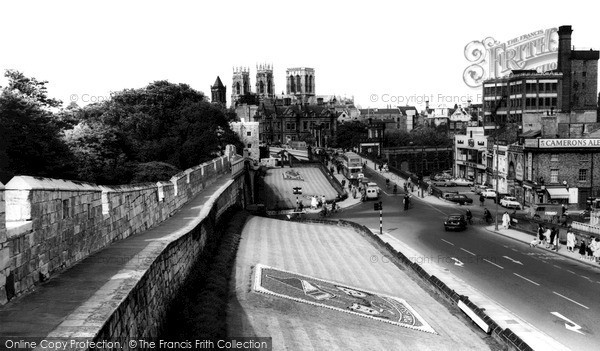 Photo of York, The Minster From The City Walls c.1960