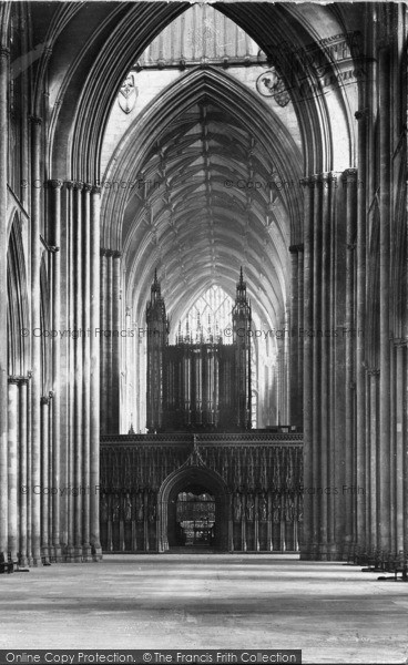 Photo of York, The Minster, The Nave 1907