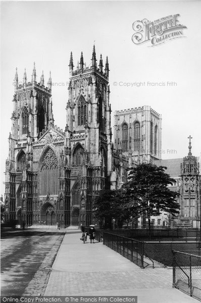 Photo of York, The Minster, West Front 1908