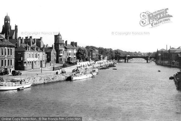 Photo of York, The River From Ouse Bridge c.1939