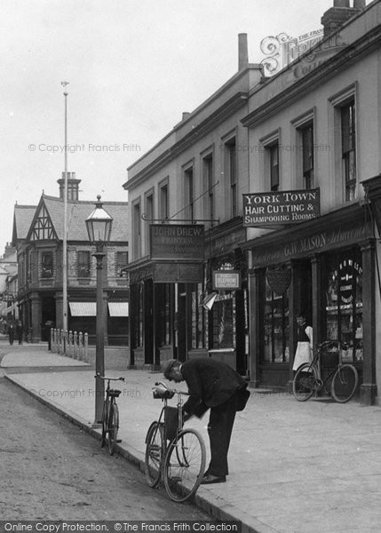 Photo of York Town, A Cyclist 1901
