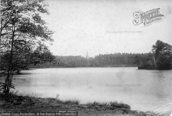 Photo of York Town, Church From Lake 1895