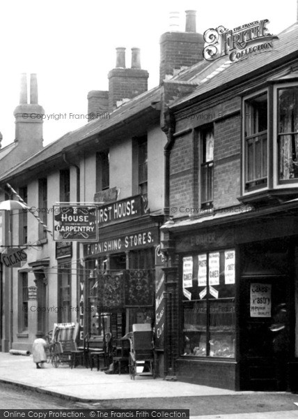 Photo of York Town, Furnishings Store And Bakery In London Road 1901