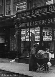 York Town, Shop And Pram In London Road 1901